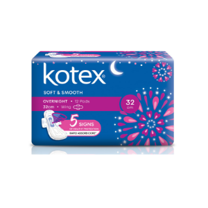KOTEX® Soft and Smooth Overnight Wing