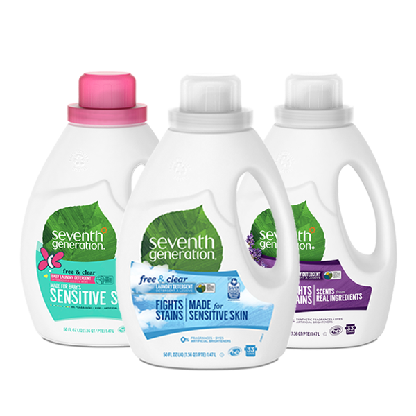 Laundry Detergent - Free and Clear, Fresh Lavender and Baby Detergent