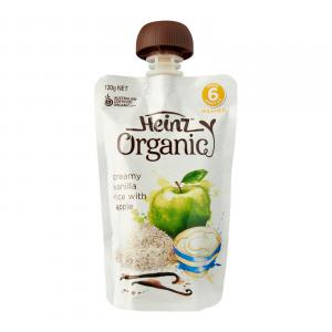 Organic Creamy Vanilla Rice With Apple