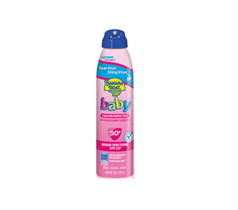 Banana Boat® Baby Tear-Free Sting-Free Continuous Lotion Spray Sunscreen SPF 50+