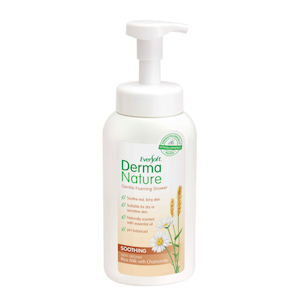 Derma Nature Gentle Foaming Shower -  Soothing Organic Rice Milk and Chamomile