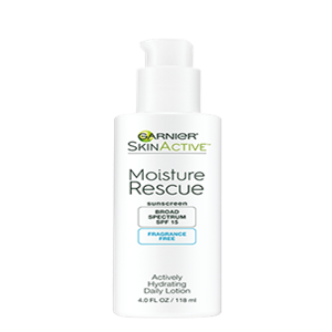 MOISTURE RESCUE ACTIVELY HYDRATING DAILY LOTION FRAGRANCE FREE SPF 15