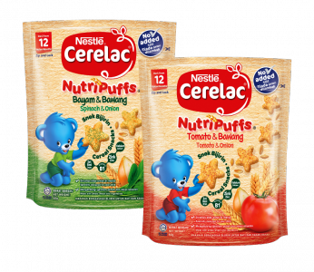 CERELAC NutriPuffs Tomato & Onion and Spinach & Onion