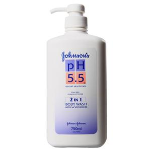 Johnson's pH 5.5 2 in 1 Moisturizers Body Wash