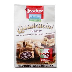 Quadratini Tiramisu Wafer Cookies