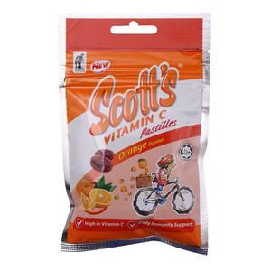 Orange Flavour Vitamin C Pastilles