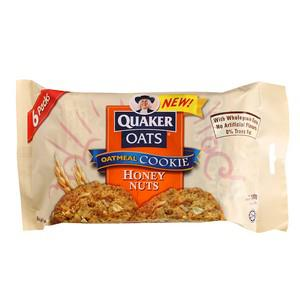 Honey Nuts Oatmeal Cookies By Quaker Review Biscuits Tryandreview Com