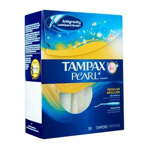 Pearl Plastic Unscented Regular Tampons